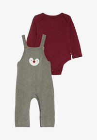 mothercare - BABY PENGUIN DUNGAREE SET  - Body - grey - 4