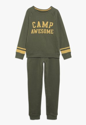 CAMP AWESOME JOG SET - Collegepaita - khaki