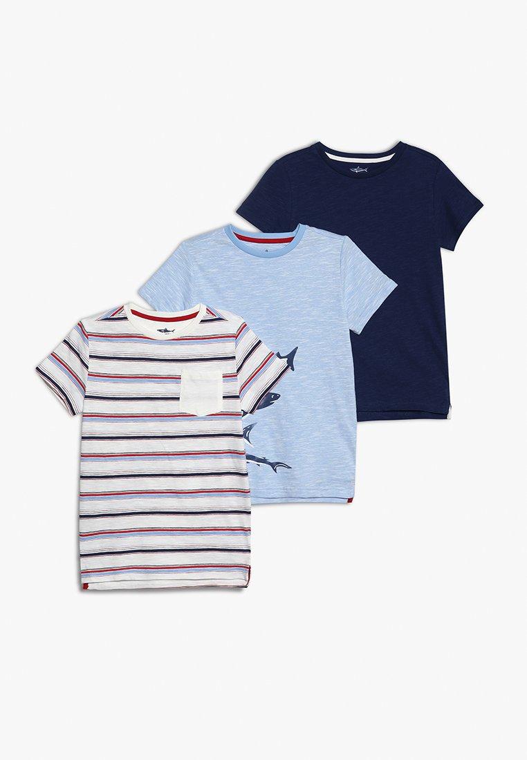 mothercare - SHARK TEES 3 PACK - T-shirt med print - blue