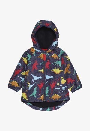 BABY COLOURFUL DINO - Vodotěsná bunda - navy