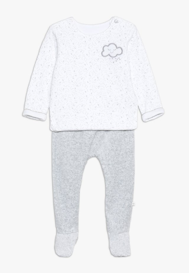 BABY VELOUR SET - Collegepaita - white