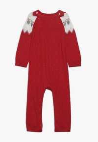 mothercare - BABY FESTIVE FAIRISLE - Jumpsuit - red - 1