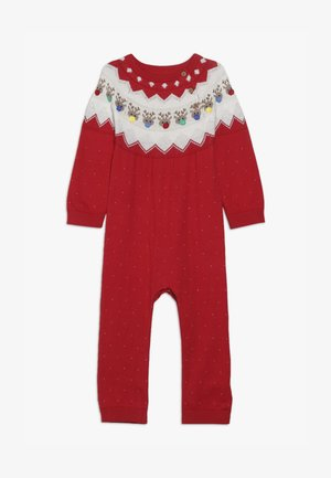 BABY FESTIVE FAIRISLE - Overal - red