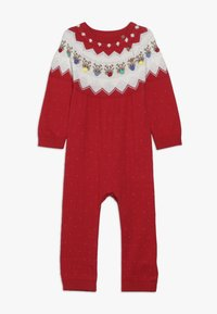 mothercare - BABY FESTIVE FAIRISLE - Jumpsuit - red - 0