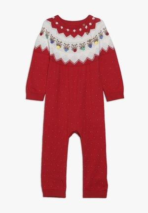 BABY FESTIVE FAIRISLE - Jumpsuit - red