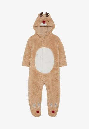 BABY FESTIVE FLUFFY REINDEER - Jumpsuit - light brown