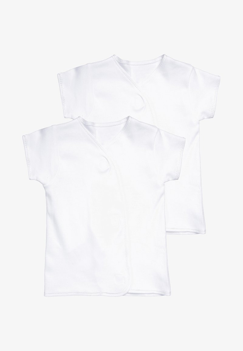 mothercare - WRAP 2 PACK - T-shirts med print - white