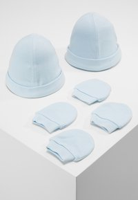 mothercare - HAT AND MITT 2 PACK  - Czapka - pale blue - 0
