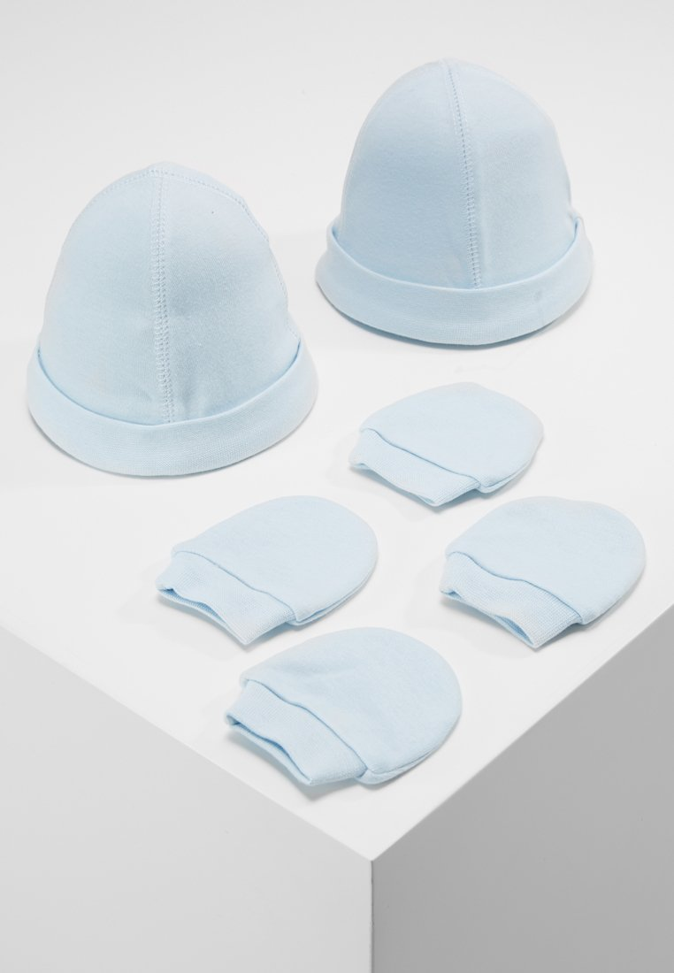 mothercare - HAT AND MITT 2 PACK  - Čepice - pale blue