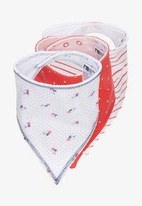mothercare - GIRLS SEASIDE BIBS BABY 3 PACK - Šátek - red/white - 0
