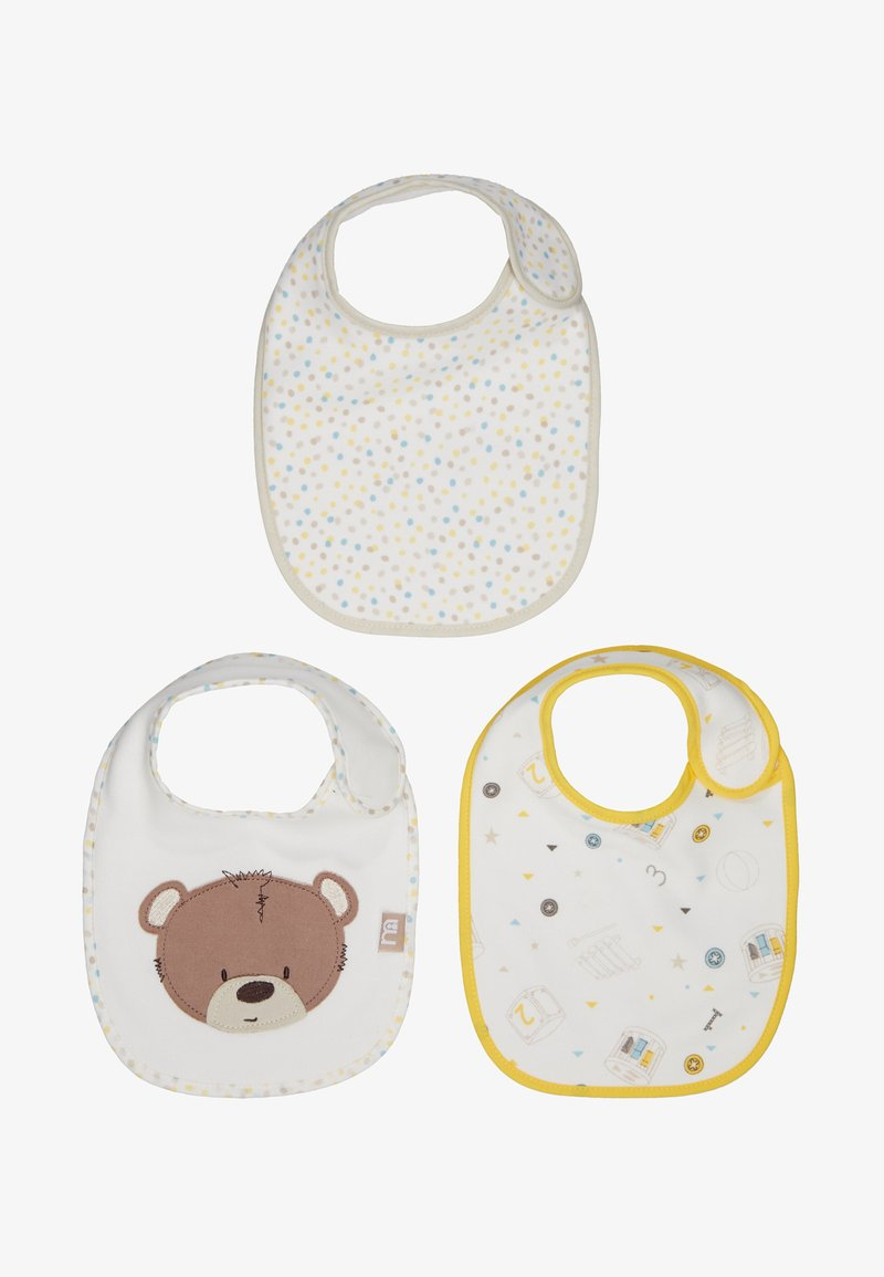 mothercare - BABY TEDDYS TOY BOX 3 PACK - Bib - beige