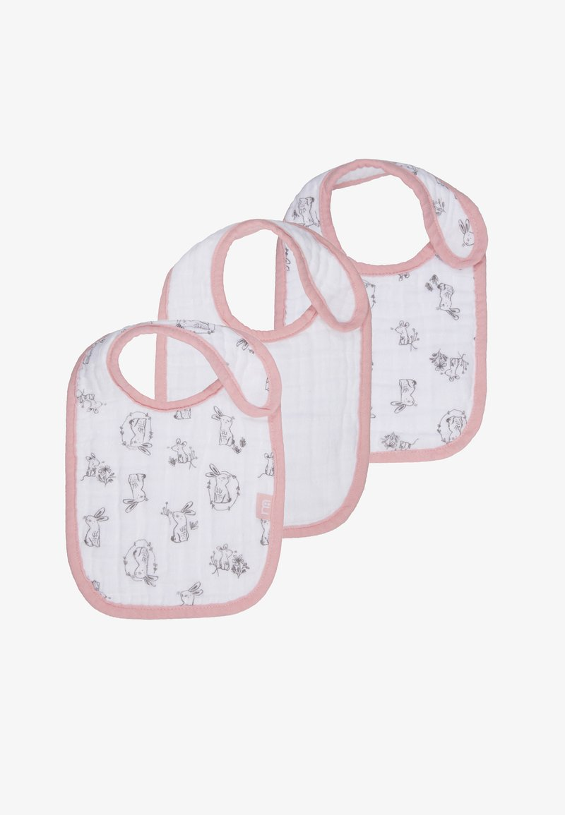 mothercare - BABY BIBS PINK 3 PACK - Bryndák - pink