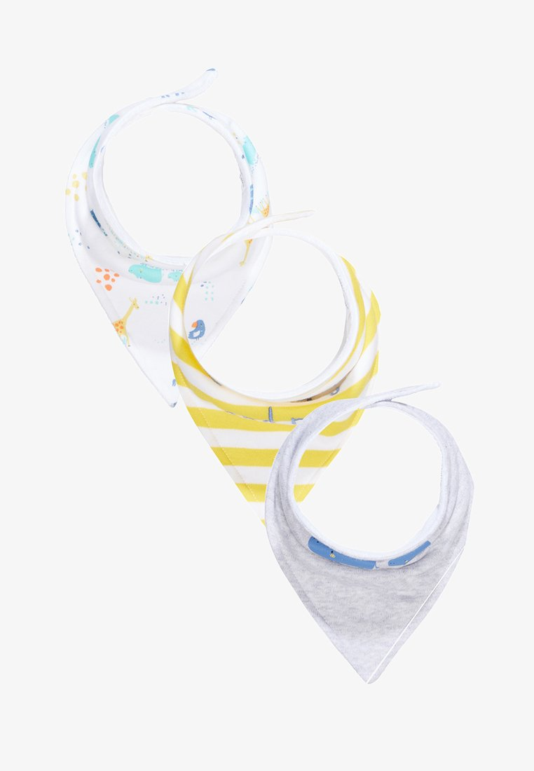 mothercare - MUM DAD BABY ESSENTIALS 3 PACK - Bufanda - mottled grey/white/yellow