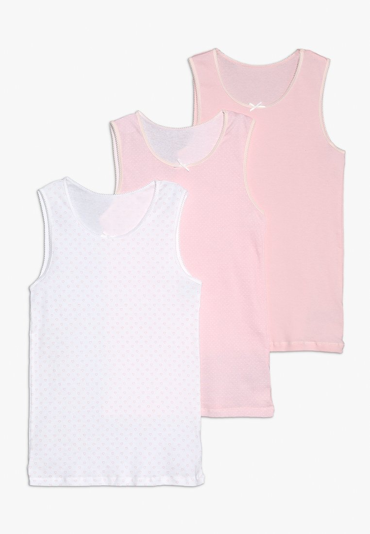 mothercare - GIRLS VEST 3 PACK - Unterhemd/-shirt - white/pink