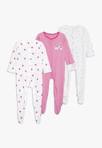 mothercare - BABY SPOTTY SLEEPSUITS 3 PACK  - Pyžamo - bright pink - 0