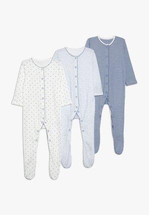 BABY PRETTY SLEEPSUITS 3 PACK  - Pyjama - pale blue