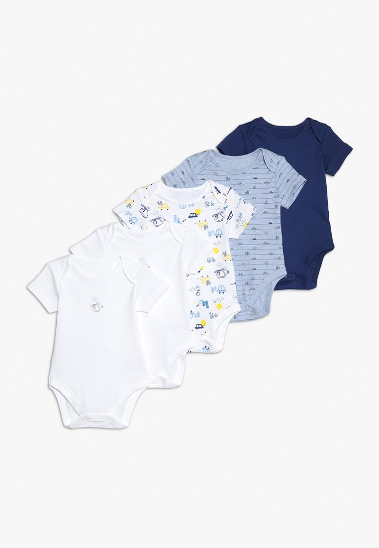 mothercare - BOYS ON THE BABY ESSENTIALS 5 PACK - Body - blue