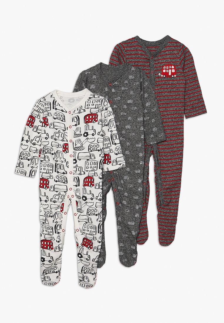 mothercare - BOY CARS BABY ESSENTIALS 3 PACK - Pijama - dark blue/white