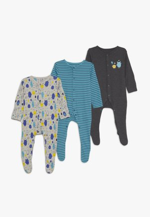 BABY MONSTER SLEEPSUITS 3 PACK  - Pyjama - charcoal