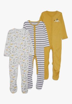 BABY SNOW PLOUGH 3 PACK SLEEPSUITS - Pijama - ochre