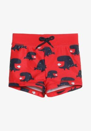 SWIM WHALE TRUNKIE MINI BOYS - Badehose Pants - red