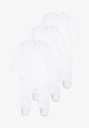 CONTINUITY SLEEPSUIT BABY 3 PACK - Pyžamo - white