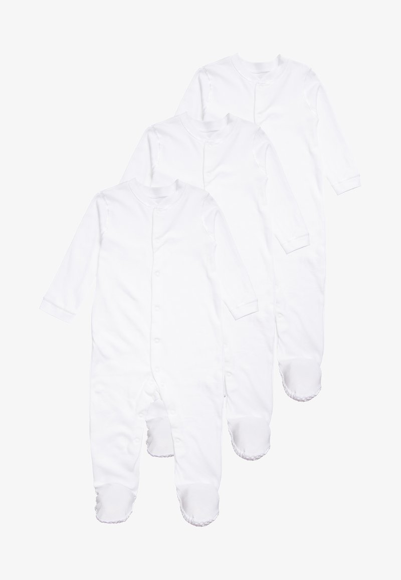 mothercare - CONTINUITY SLEEPSUIT BABY 3 PACK - Pyjama - white