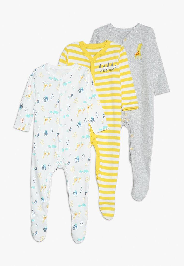 mothercare - SLEEP BABY ESSENTIALS 3 PACK - Pyjama - mottled grey/white/yellow