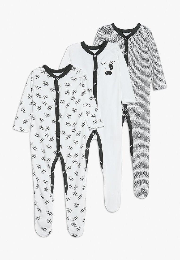 mothercare - COW SLEEP BABY ESSENTIALS 3 PACK - Pyjama - black/white