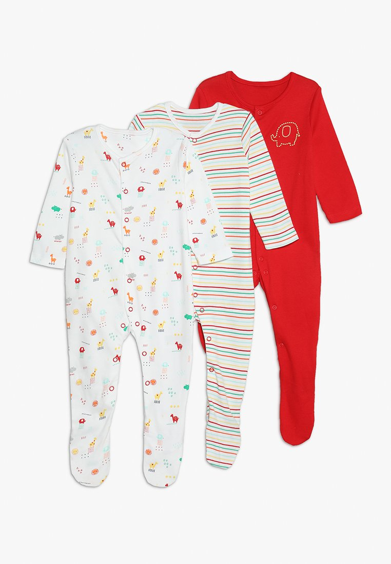 mothercare - BRIGHTS SLEEPSUIT BABY ESSENTIALS 3 PACK - Pyjama - white/red