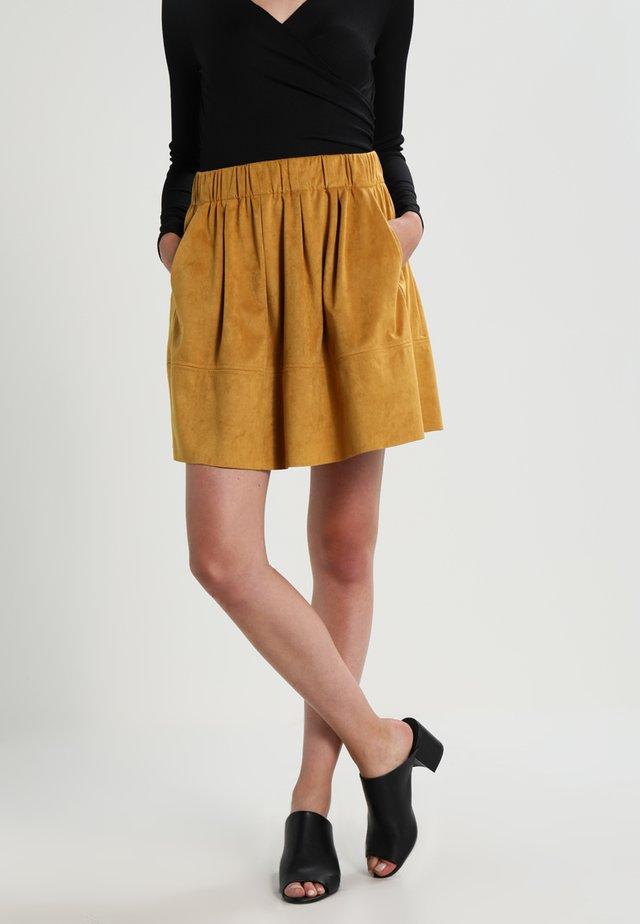 KIA - Jupe trapèze - mustard yellow