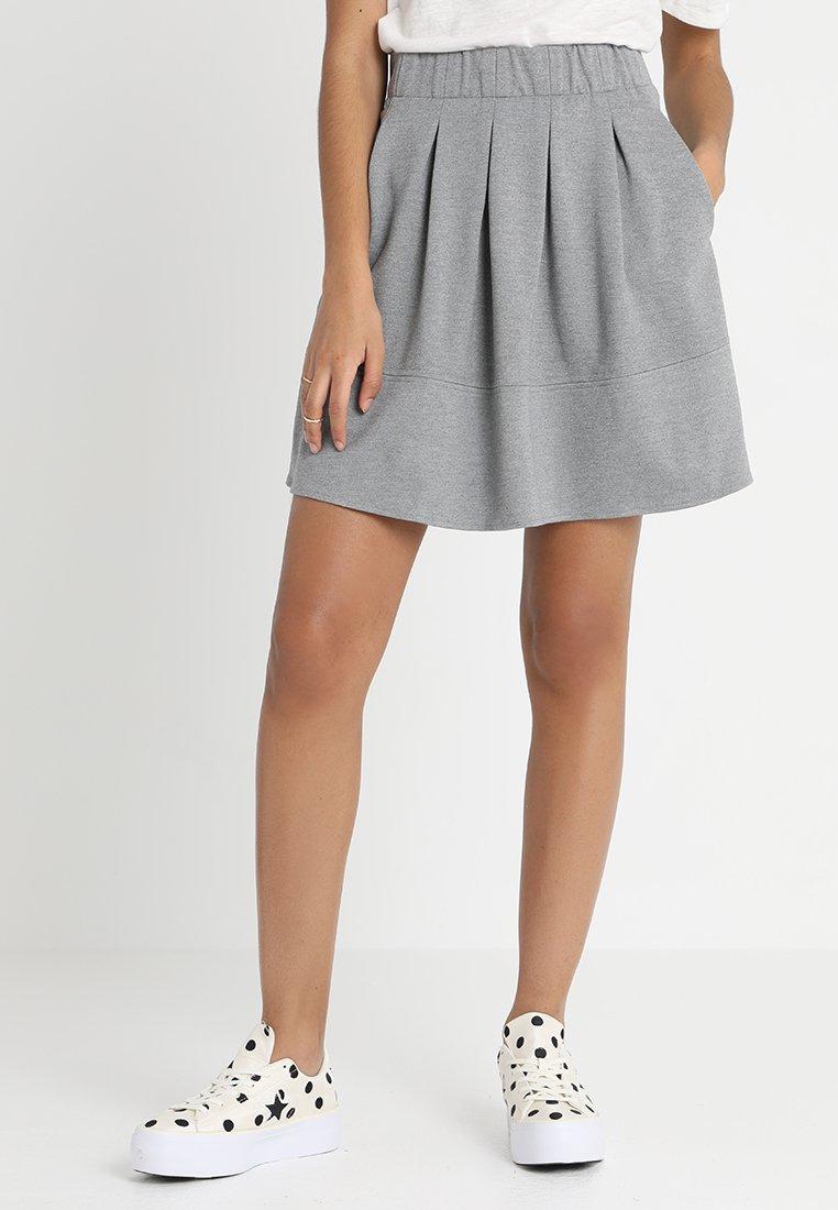 Moves - KIA JERSEY SKIRT - A-line skirt - grey