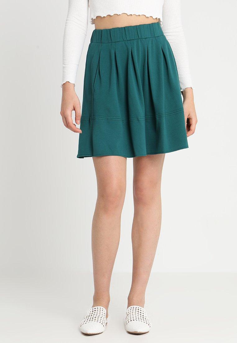 Moves - KIA JERSEY SKIRT - A-line skirt - teal green