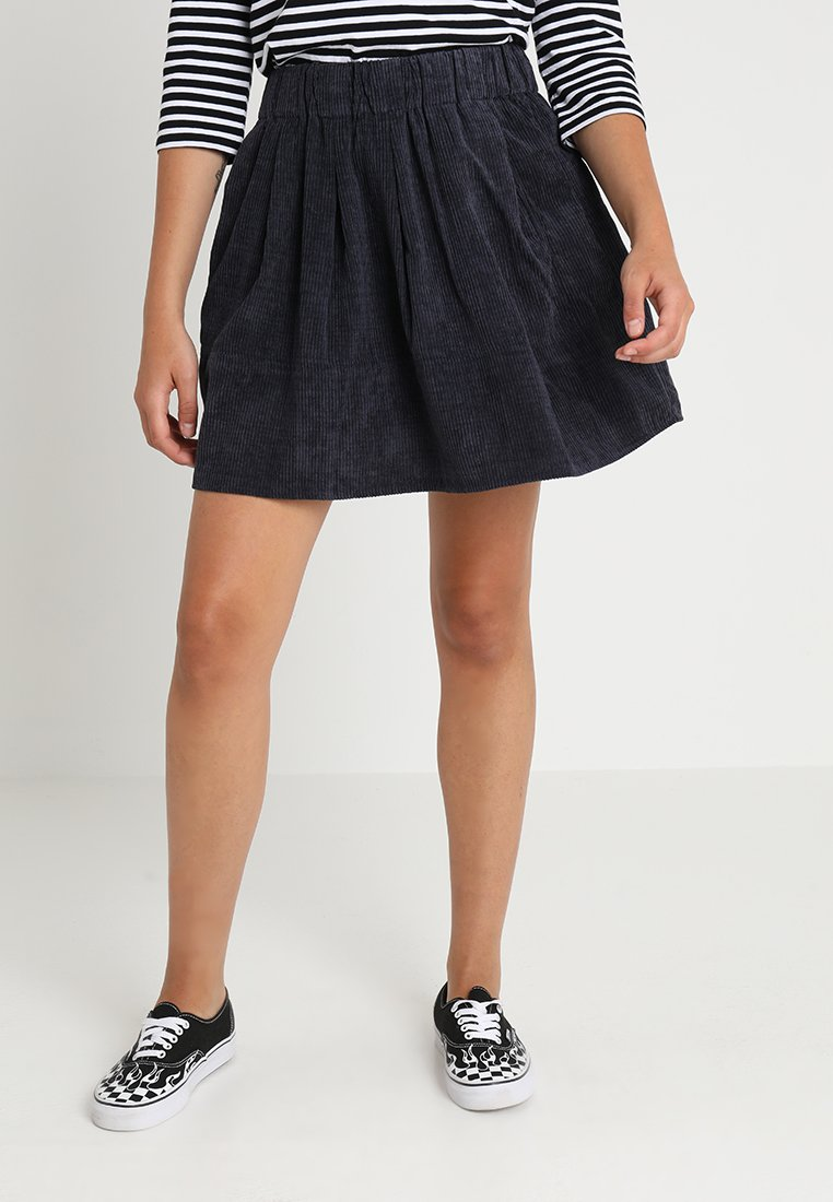 Moves - KIA CORDUROY  - A-line skirt - navy