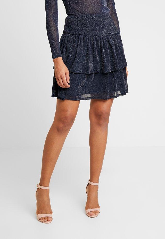 ELISSAN - Mini skirt - midnight