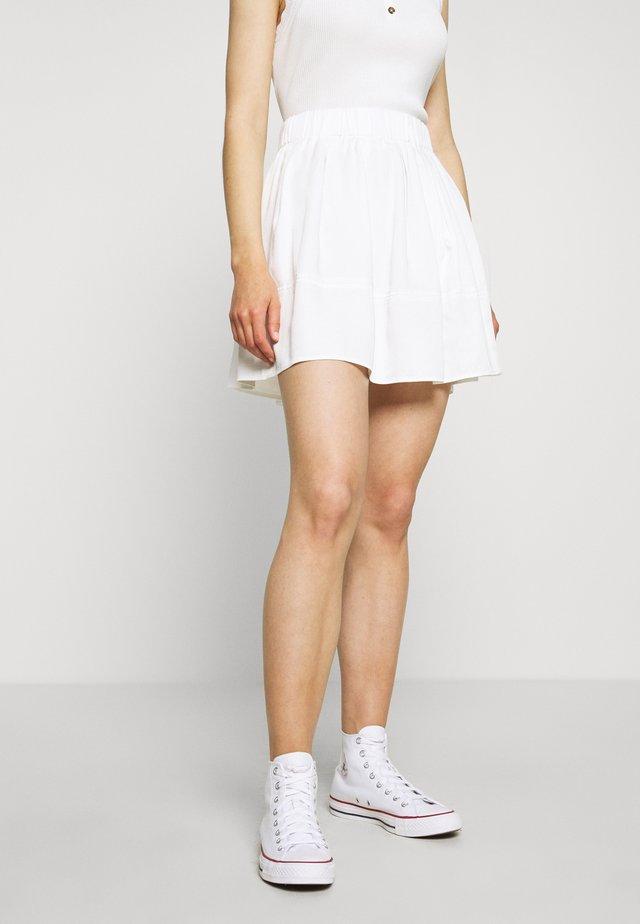 KIA TENCEL 1845 - Áčková sukně - white