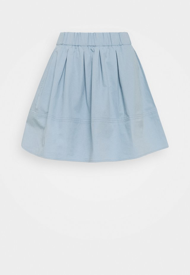 KIA COTTON 1830 - Pleated skirt - spring blue