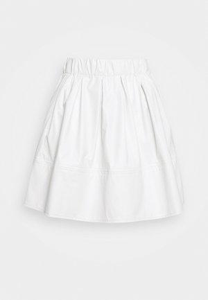 KIA PU 1832 - A-line skjørt - white