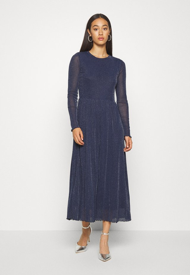 MARISAN - Robe d'été - navy/blue with silver