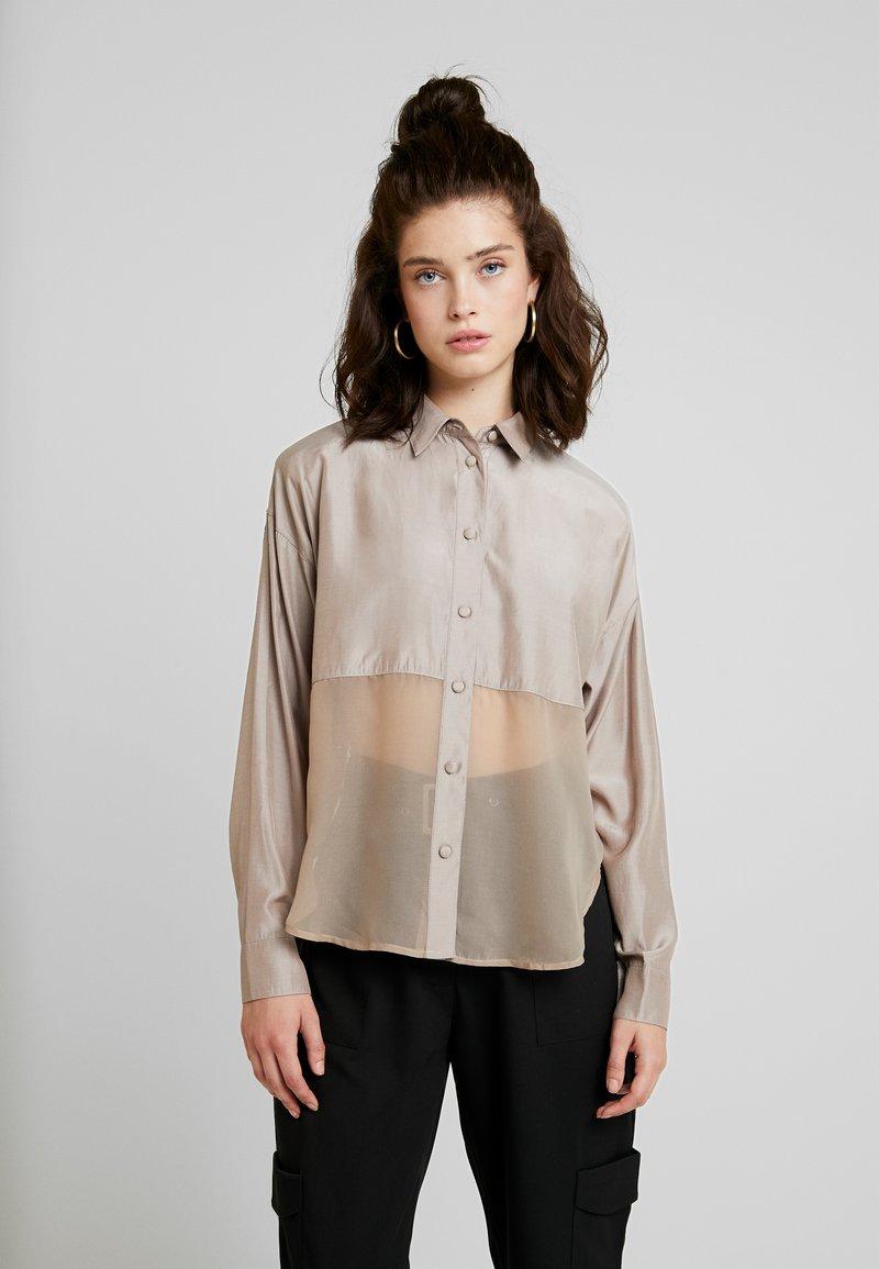 Moves - VIENINA - Button-down blouse - cobblestone