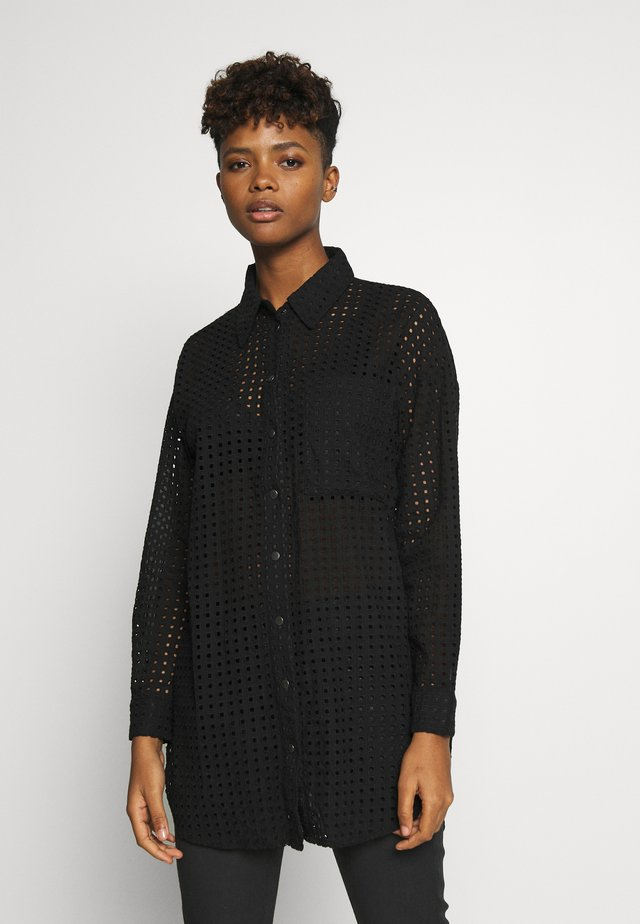 TROLLA  - Button-down blouse - black