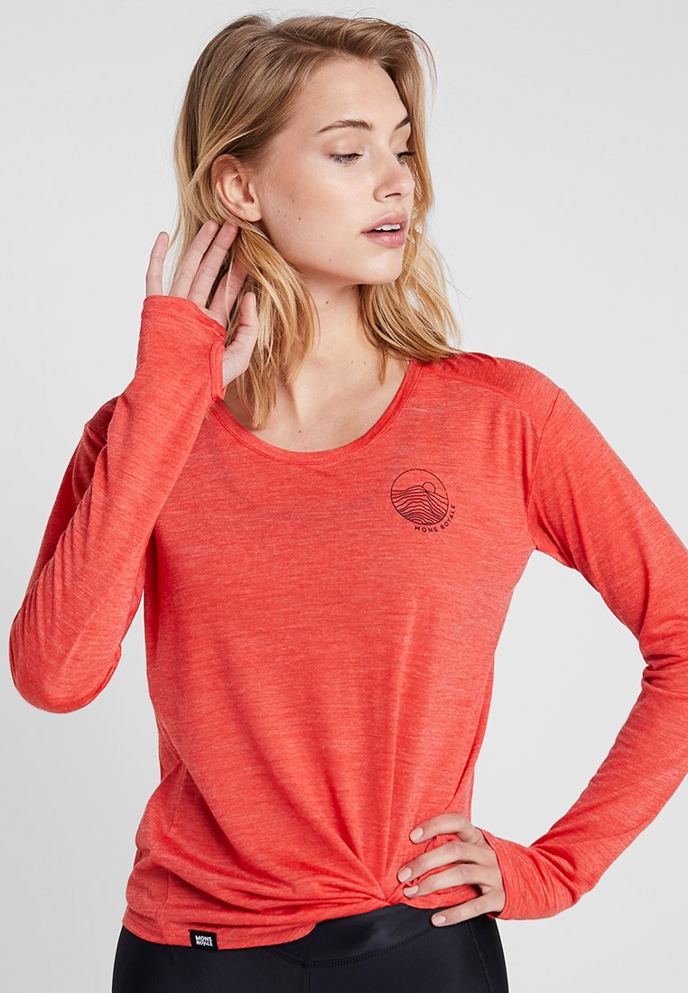 Mons Royale - HILLARY HIKE - Long sleeved top - poppy