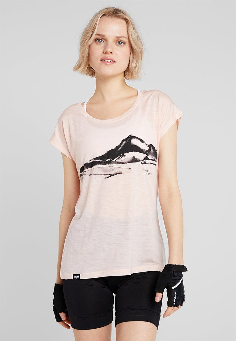 Mons Royale - ESTELLE TEE - T-Shirt print - blush