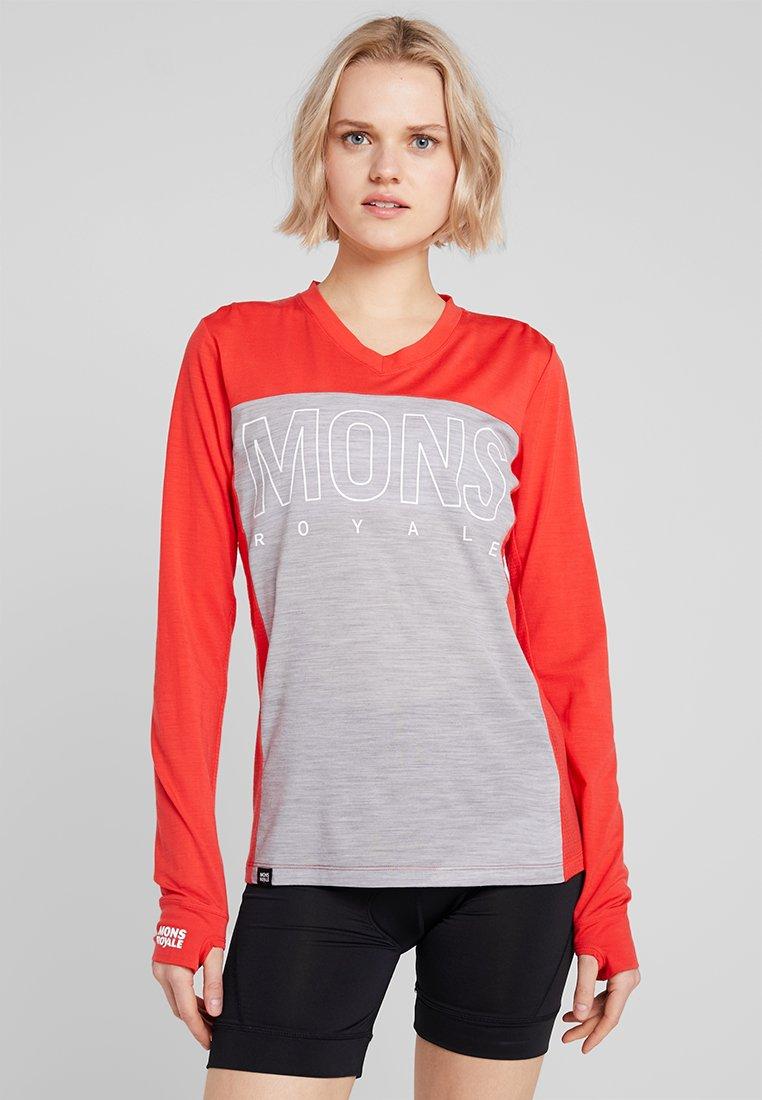 Mons Royale - PHOENIX ENDURO  - T-shirt à manches longues - poppy/grey marl