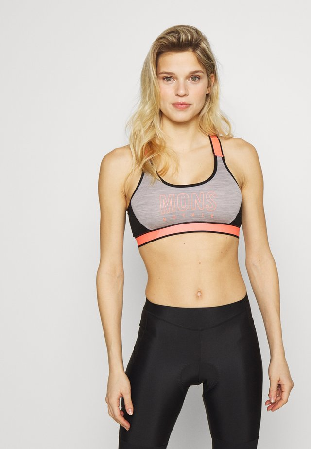 STELLA X BACK BRA - Sports bra - black/grey marl