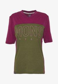 Mons Royale - PHOENIX ENDURO - T-shirts print - khaki/rose - 4