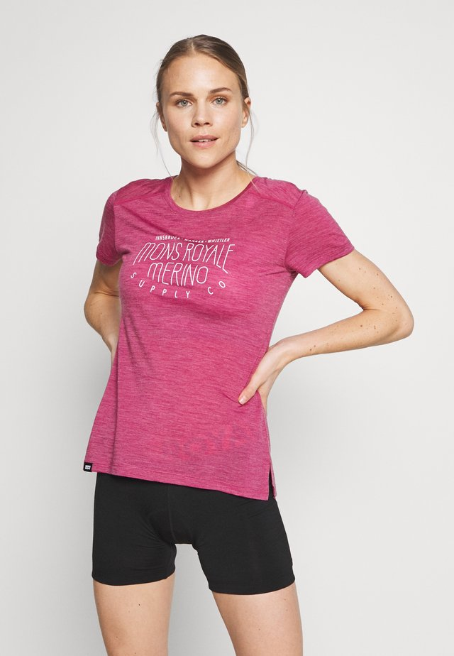 VAPOUR TEE - T-shirt print - rosewood