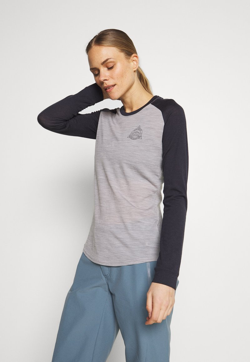 Mons Royale - ICON RAGLAN - Funktionstrøjer - iron /grey marl