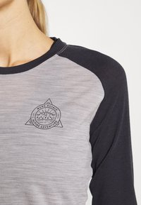 Mons Royale - ICON RAGLAN - Funktionstrøjer - iron /grey marl - 4