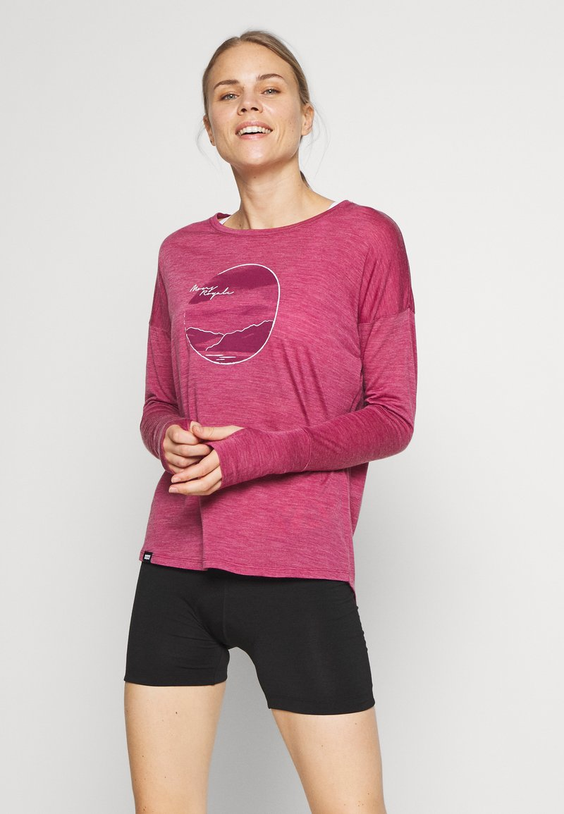 Mons Royale - ESTELLE RELAXED - Long sleeved top - rosewood